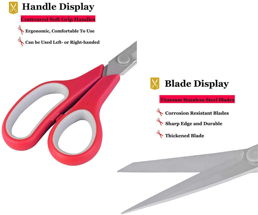 Wholesale 8 Inch Craft Scissors With Straight Handle Titanium Heavy Duty -