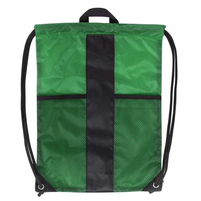 Wholesale Dual Mesh Pocket Drawstring Backpack - 5 Color Assortment -