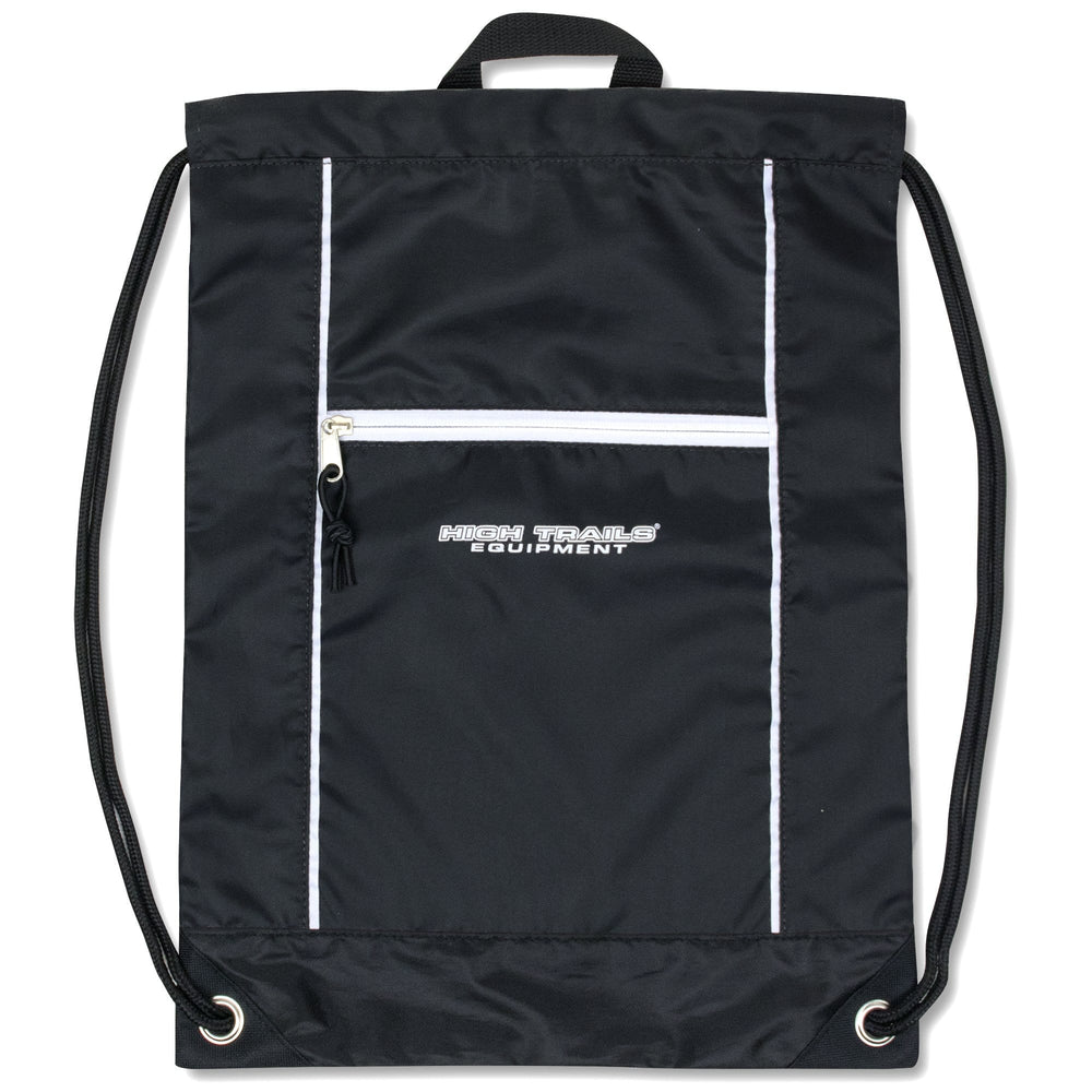 Wholesale High Trails 18 Inch Drawstring Bag - Black