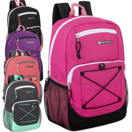 7a686c6b9b99 Wholesale Urban Sport 18 Inch Deluxe Bungee Backpack - 5 Color Girls  Assortment