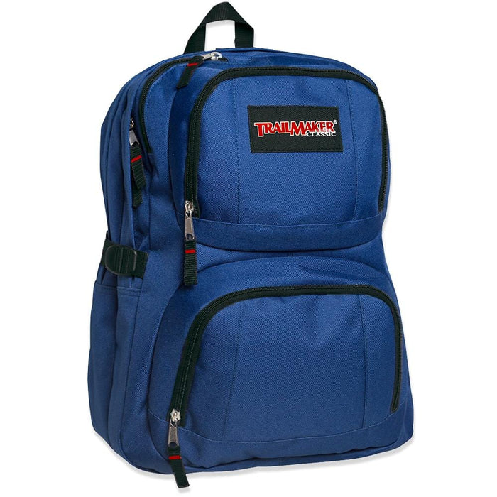 Wholesale Trailmaker Double Compartment Backpack with Padding - 4 Colors -