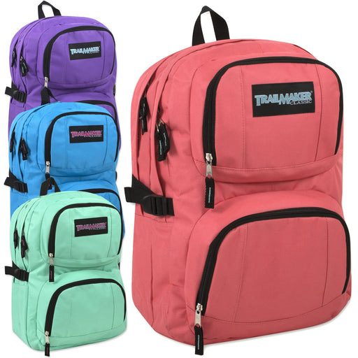 2ab7b783df Wholesale Trailmaker Double Compartment Backpack with Padding - Assorted  Girl Colors