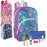 Preassembled 15 Inch Character Backpack & 12 Piece School Supply Kit - Girls -