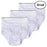 Wholesale White Cotton Men's Briefs - Small -