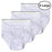 Wholesale White Cotton Men's Briefs - XLarge