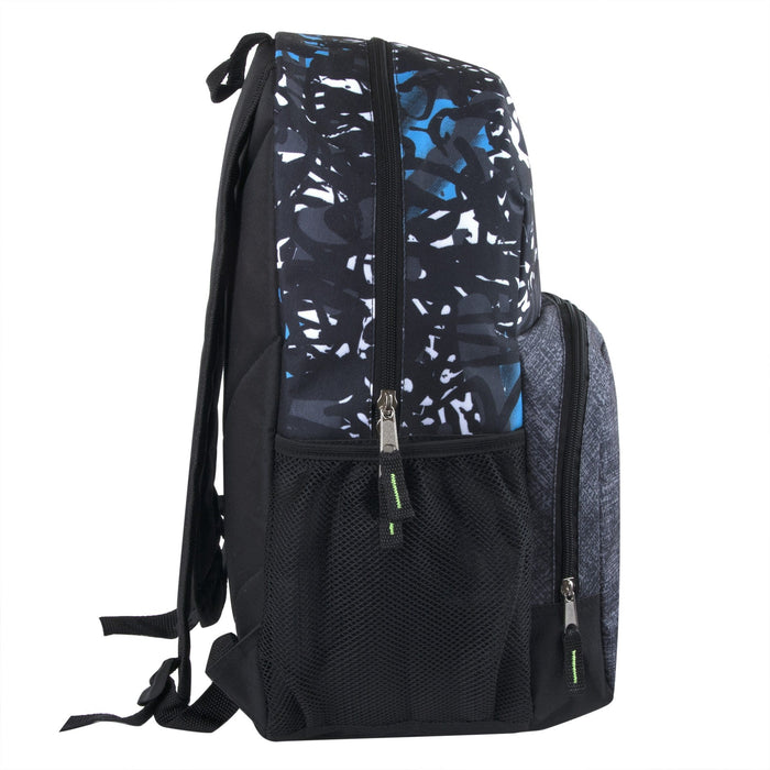 Wholesale 17 Inch Graffiti Backpack With Side Pockets-BagsInBulk.com