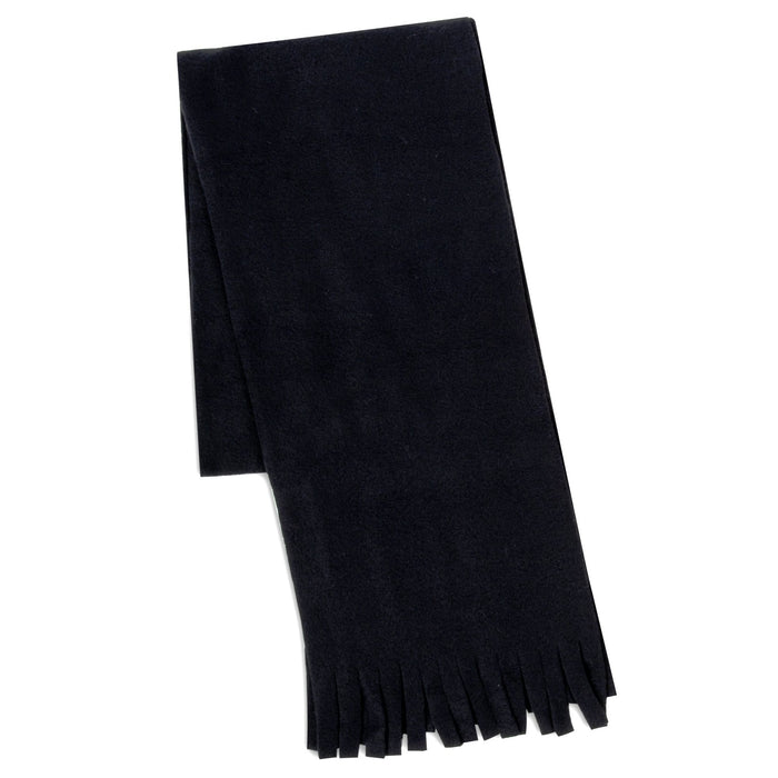 "Wholesale Adult Fleece Scarves 60"" x 8"" With Fringe - Assorted Colors -"
