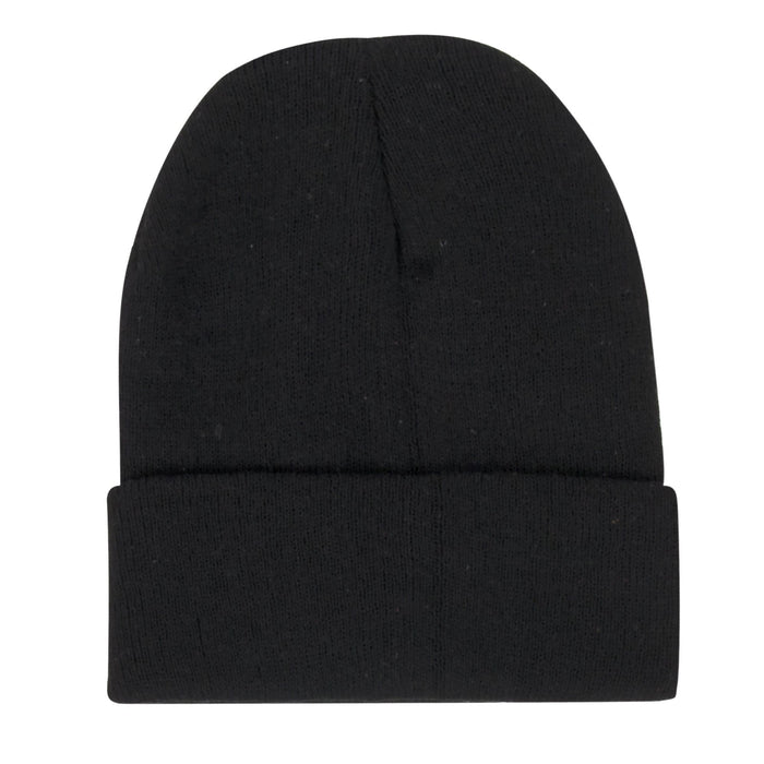 Wholesale Adult Knit Hat Beanie – Black Only