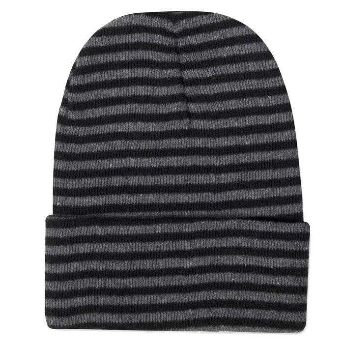 Wholesale Adult Knit Hat Beanie – Striped Pattern