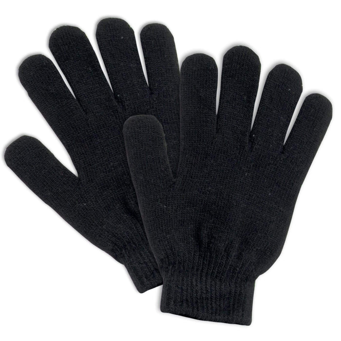 Wholesale Adult Knitted Gloves - 3 Assorted Colors -