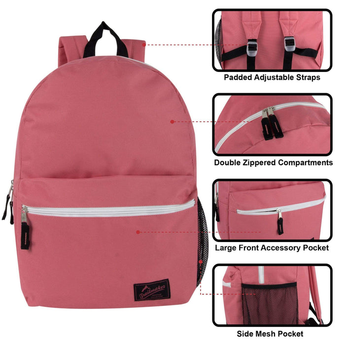 Wholesale Trailmaker 18 Inch Backpack With Side Pocket - Girls