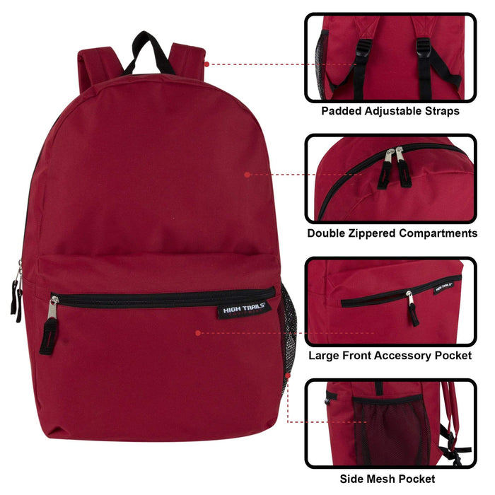 Wholesale High Trails 19 Inch Backpack With Side Mesh Pocket-BagsInBulk.com