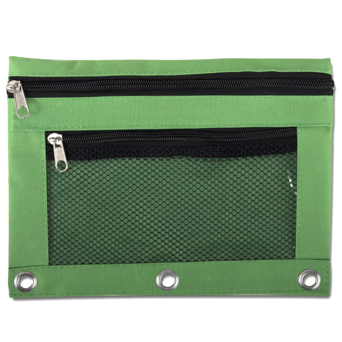 Wholesale 3 Ring Binder Mesh Window Pencil Case