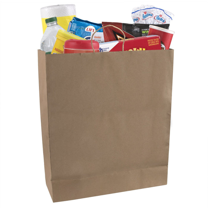 Wholesale 19 Inch Kraft Paper Grocery Shopping Bags -