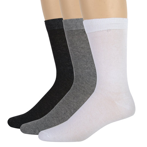 Wholesale Men's Cotton Crew Socks Solid Colors -