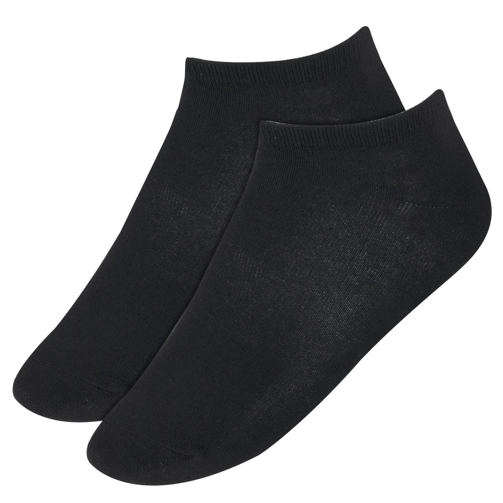 Wholesale Men's Cotton Ankle Socks Black Only-BagsInBulk.com