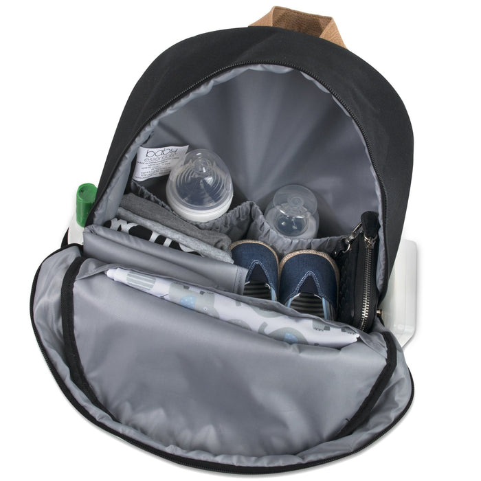 Wholesale Baby Essentials Diaper Backpack -  Black -