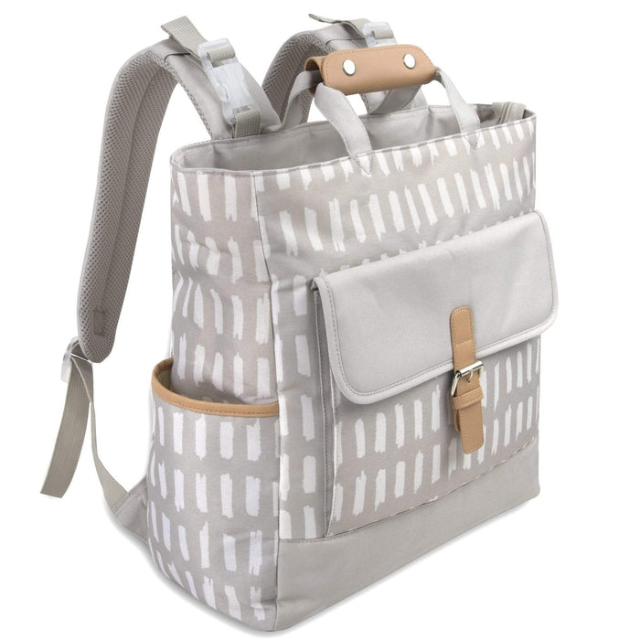 Wholesale Baby Essentials Tote Convertible Backpack - Grey