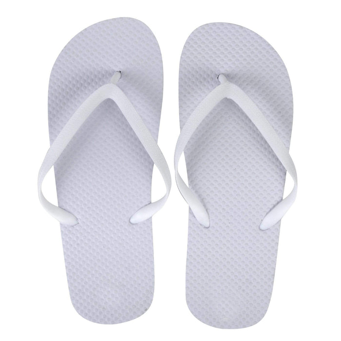 Wholesale Women's Flip Flips - White -