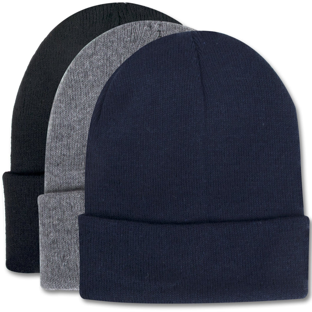knit hats in assorted colors