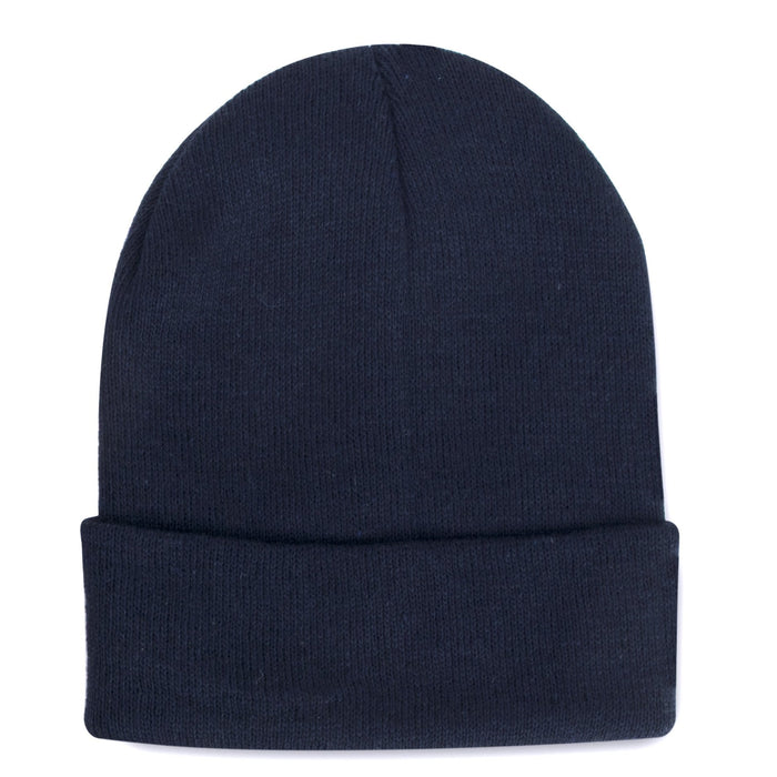 knit hat in navy blue