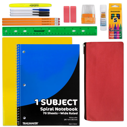 Wholesale 20 Piece School Supply Kit-BagsInBulk.com