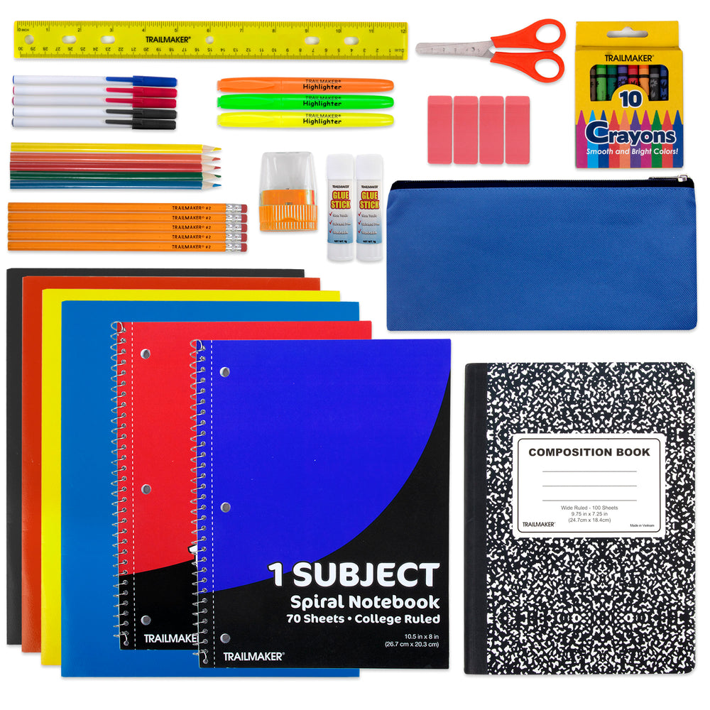 Wholesale 45 Piece School Supply Kit -