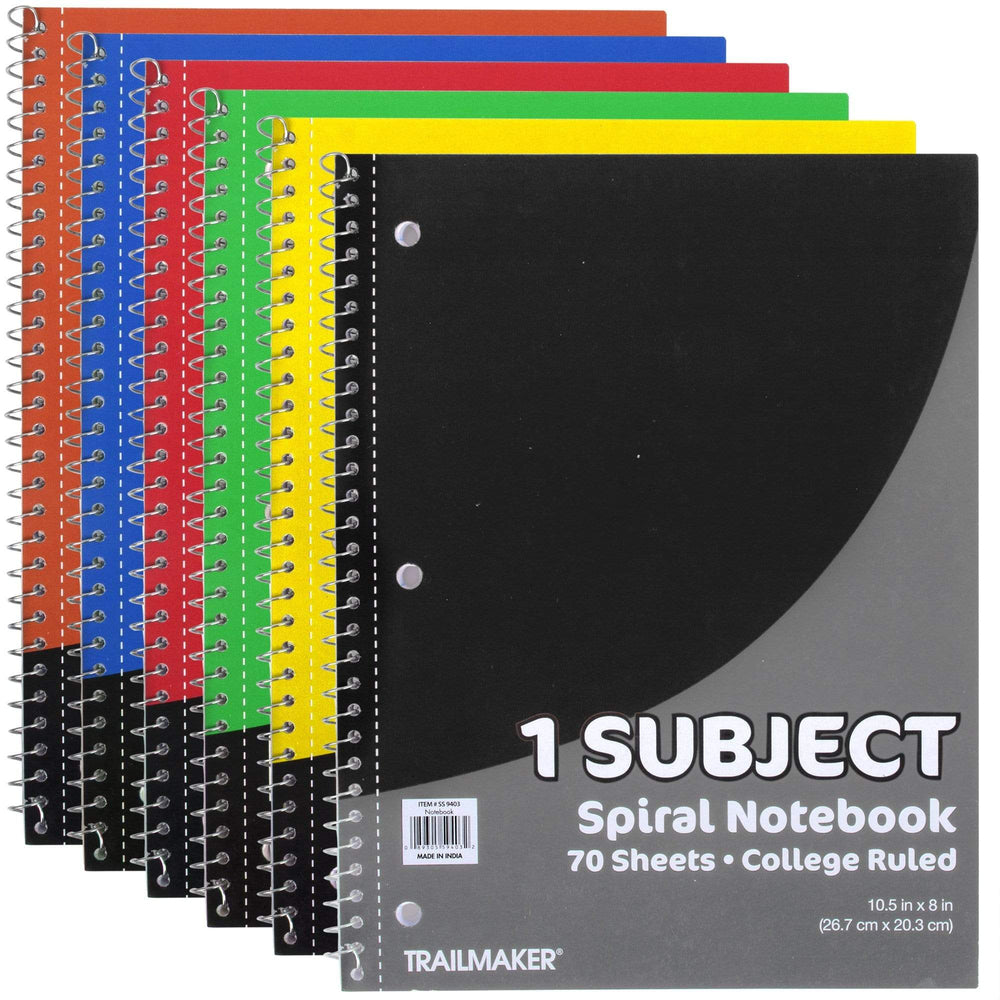 Wholesale 1 Subject Notebook - College Ruled - 70 Sheets -