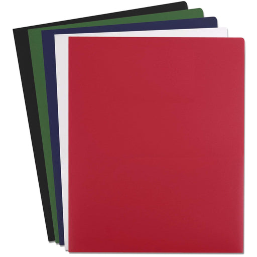 Wholesale Heavy Duty Plastic Folder - Assorted Colors -