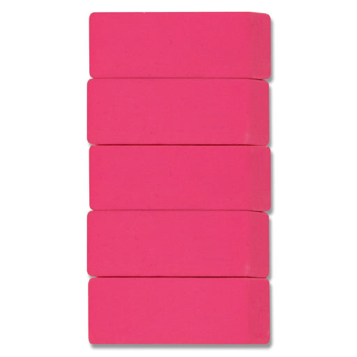 Wholesale 5 Pack Pink Eraser