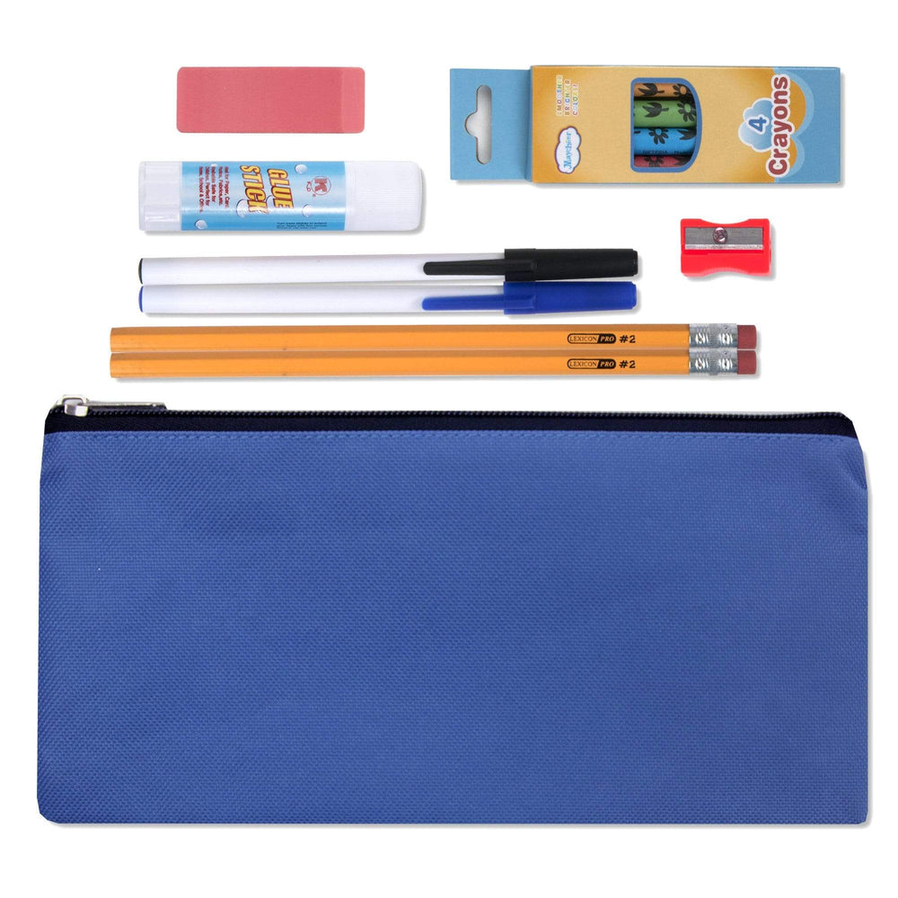 Wholesale 12 Piece School Supply Kit-BagsInBulk.com