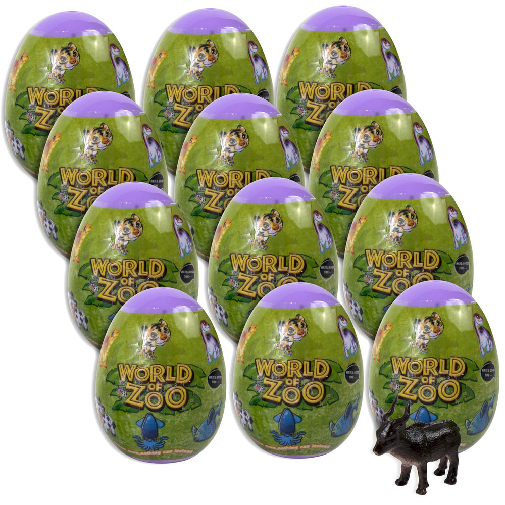 Animal Eggs In Bulk - 12 Collectible Figures -