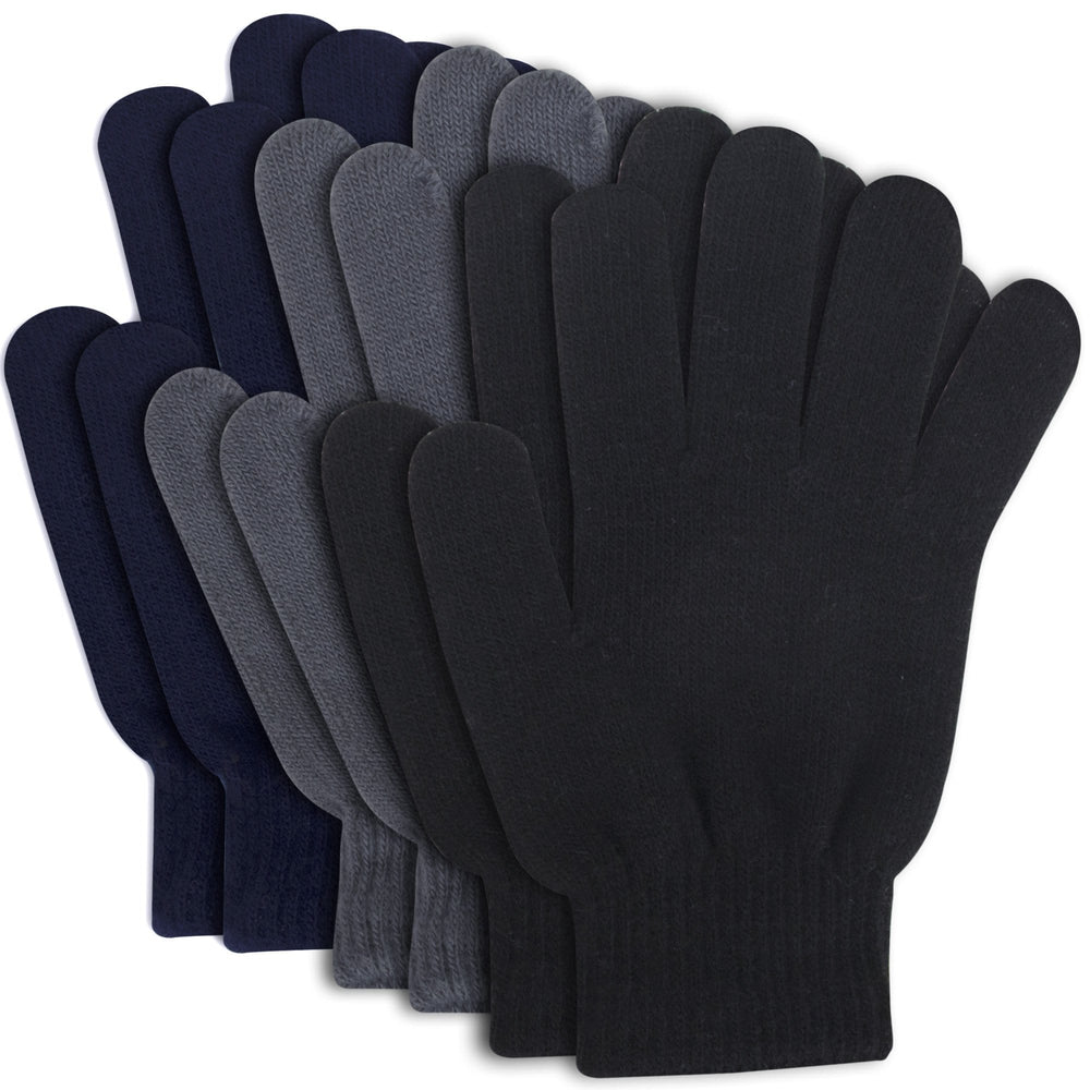 knit gloves in assorted colors