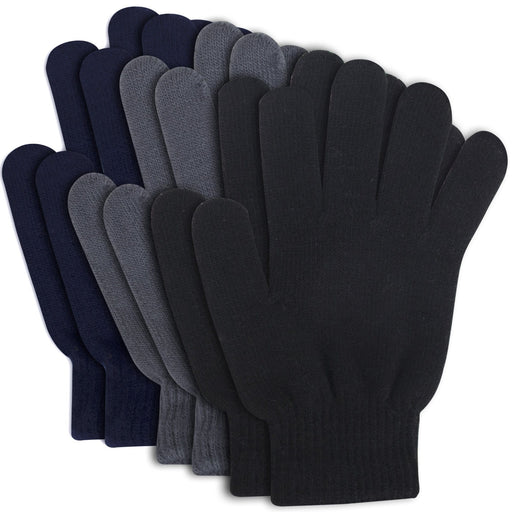 Wholesale Adult Knitted Gloves - 3 Colors