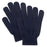 knit gloves in navy blue