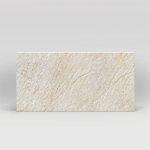 "Rox White Quartz Matte 12""x24"" Stone Look Porcelain Tile"