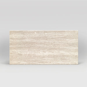 "Tale Navona Lucidato Polished 12""x24"" Travertine Look Porcelain Tile"