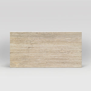 "Tale Verso Classico Lucidato Polished 12""x24"" Travertine Look Porcelain Tile"