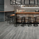 "Vibe Cinder Matte 8""x48"" Wood Look Porcelain Tile"