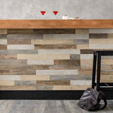 "Vibe Woodmix Matte 12""x48"" Wood Look Porcelain Tile"