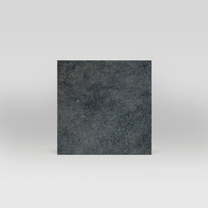 "District Black Matte 14""x14"" Stone Look Porcelain Tile"