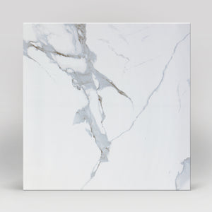 "Domus Bianco Polished 24""x24"" Marble Look Porcelain Tile"