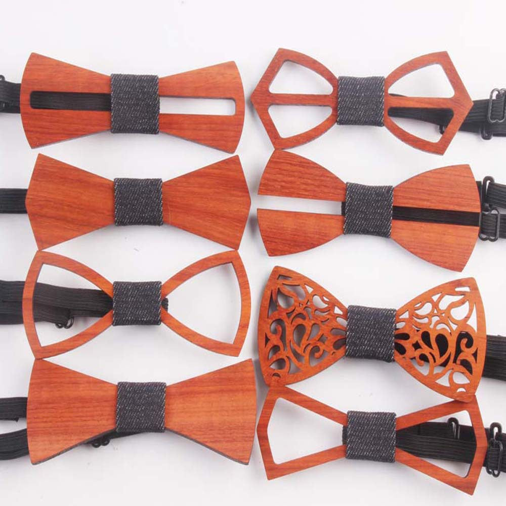 8fdd24fdf8b2 Fashion Western Special Wood Gentleman Bow Ties Handmade Butterfly Wedding  Party Bow Ties Butterfly Wooden Unique
