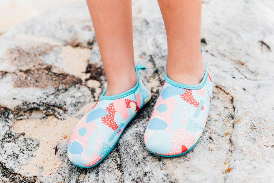 Sprinkles Junior Swim Shoe - Chachi's Bay - kids rashies - kids swimwear - kids swim shoes - round towels - beach towels