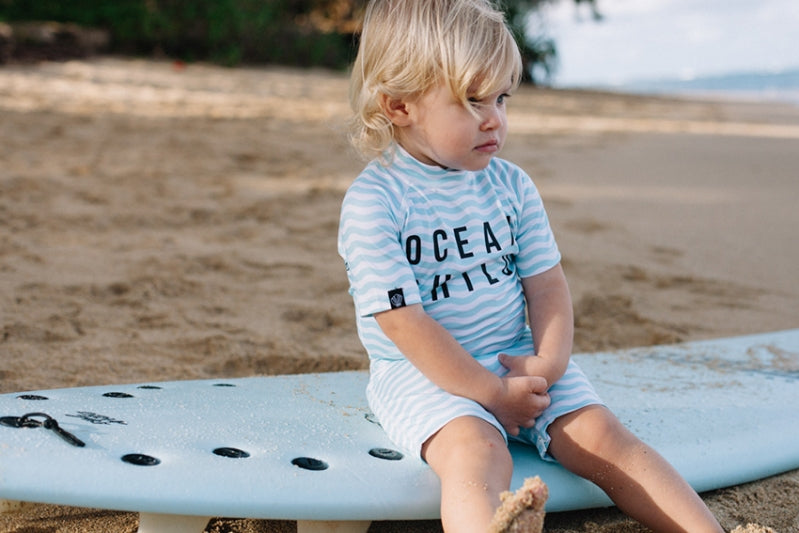 Ocean Child Sun Suit - Chachi's Bay - kids rashies - kids swimwear - kids swim shoes - round towels - beach towels