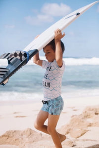 Save The Ocean Rashie - Chachi's Bay - kids rashies - kids swimwear - kids swim shoes - round towels - beach towels
