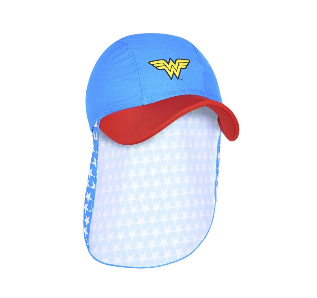 Wonder Woman Kids Sun Hat. One Size 50% OFF - Chachi's Bay - kids rashies - kids swimwear - kids swim shoes - round towels - beach towels