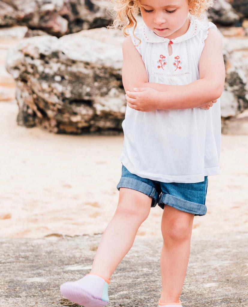 Gelato Toddler Soft Sole Beach Shoe - Chachi's Bay - kids rashies - kids swimwear - kids swim shoes - round towels - beach towels