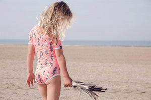 Flamingo Feather Swim Suit