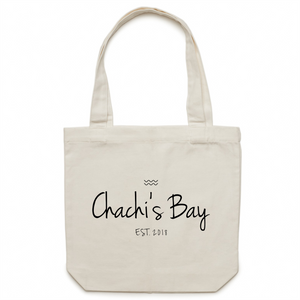 Chachi's Branded Tote Bag - Chachi's Bay - kids rashies - kids swimwear - kids swim shoes - round towels - beach towels